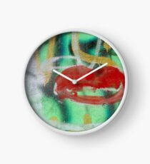 Red Kiss Clock