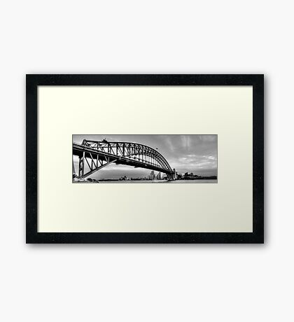 The Bridge - A Study in Black and White #3- The HDR Experience Framed Print