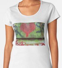 Red Heart Women's Premium T-Shirt