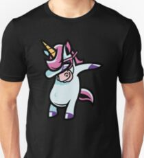 Abtupfendes Einhorn-T-Shirt Regenbogen-Gruppen-Party-Geschenk-Einhörner Unisex T-Shirt