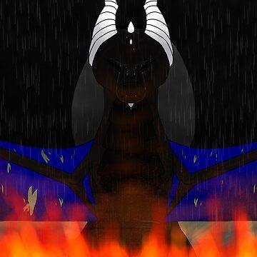 Sad Black Dragon by Sonorouss