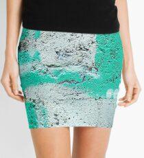 Green Stripe Mini Skirt
