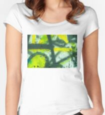 Black Yellow White Women's Fitted Scoop T-Shirt