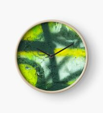 Black Yellow White Clock