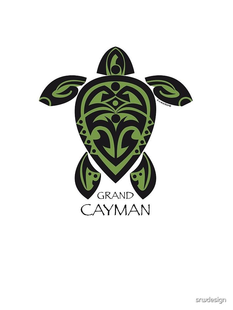 Black & Green Tribal Turtle Tattoo / Grand Cayman by Susan R. Wacker