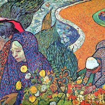 'Promenade in Arles' by Vincent Van Gogh (Reproduction) by RozAbellera