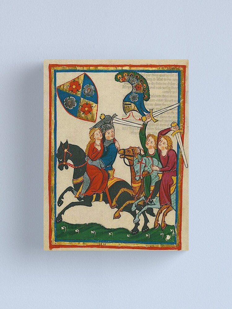 Alternate view of Frederick the Apprentice Knight abducts his lady Canvas Print