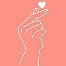 Ästhetisches rosa koreanisches Herz von arareart