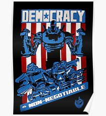 Demokratie ist nicht verhandelbar Poster