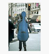 Musical street walker Photographic Print