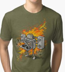 Robot DJ is in the House! Tri-blend T-Shirt