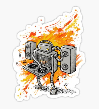 Robot DJ is in the House! Sticker