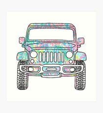 Lilly Jeep Art Print