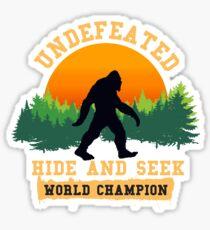 Undefeated Hide and Seek World Champion T shirt Bigfoot T shirt Sticker