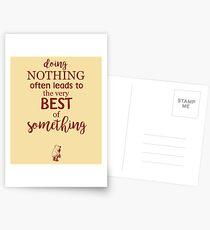 Nichts tun Postkarten