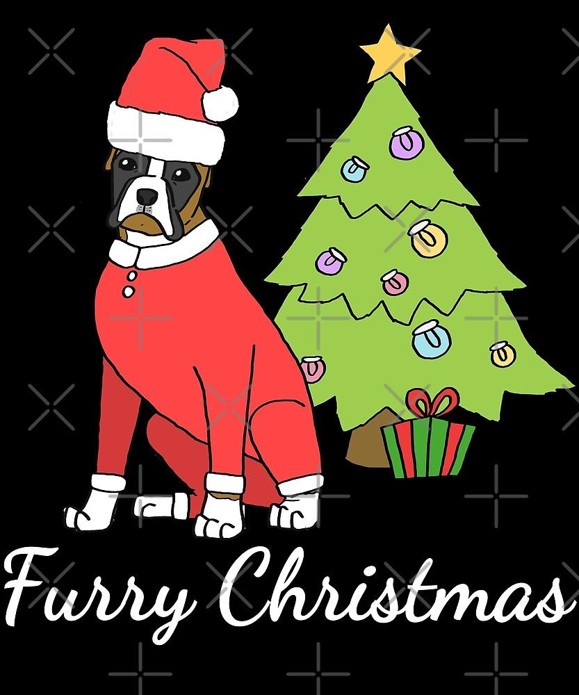 boxer furry christmas - Christmas Furry