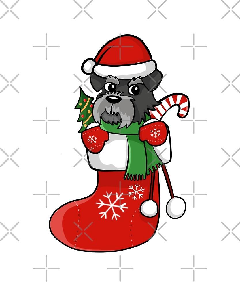 Schnauzer Christmas Stocking\
