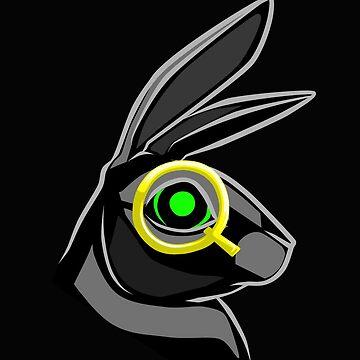 Follow the White Rabbit - Q spectacle, green eye by GreatAwakening