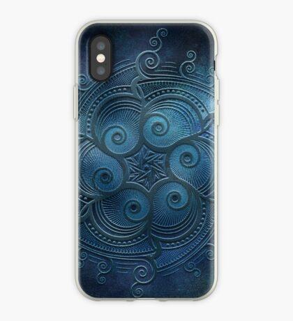 Mobile skin mandala blue too iPhone Case