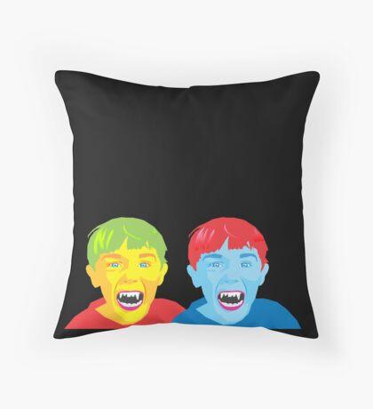 Vampire Twins Throw Pillow