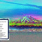 Mt Rainier from Discovery Park - Seattle - Never-Ending Twinkle - Poem  by Kenneth S Lapham