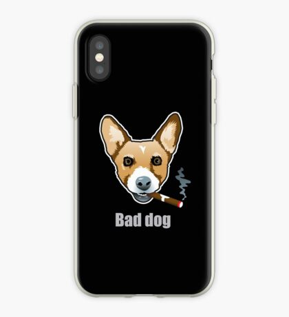 Bad Dog Smoking Cigar iPhone Case