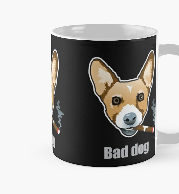 Bad Dog Smoking Cigar by Bloomin'  Arty Families