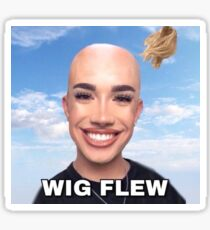 james charles, wig flew Sticker