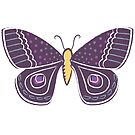 Violet Butterfly by Gina Rollason