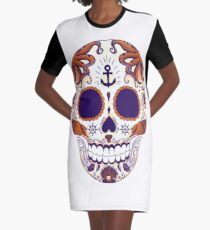 Sea skull colored Graphic T-Shirt Dress