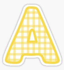 gelbes Gingham Alpha Sticker