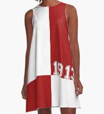 Der Crimson Block von HeavenNezCree A-Linien Kleid