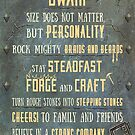 Wise Dwarf Advice and Quotes   Geeky Love and Friendship by PathOfPixels