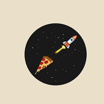 Space Pizza by jomzojeda