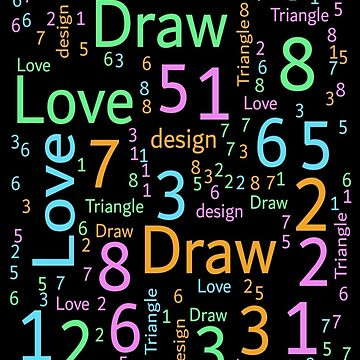 Design text and color numbers.  by talalbalwi