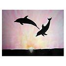 « Dauphins à l'aube » par Laelart
