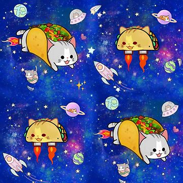 Outerspace Tacocat Pattern by PlanetLucky