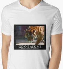 Tiger Terror Men's V-Neck T-Shirt