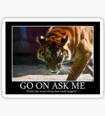 Tiger Terror Sticker