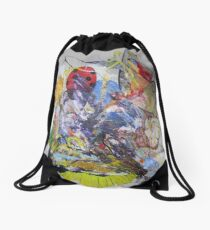 Life of Grass, Insects, original painting forever Drawstring Bag
