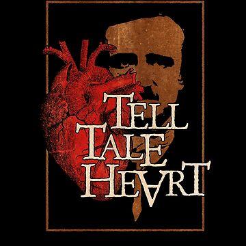 Edgar Allan Poe - Tell Tale Heart Gothic Horror by gorillamerch