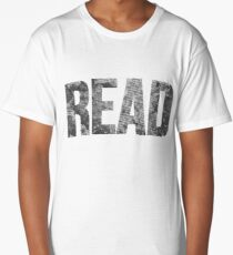 Read Dictionary Page Black Long T-Shirt