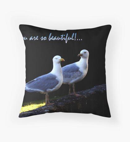 U R So Beautiful Throw Pillow