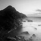 Kilve Sunset Through the Mist by kernuak