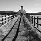 Little church on the prairie by Ursula Tillmann
