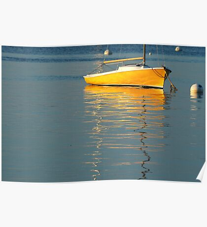 Boat, Bayside Harbor, Maine Poster