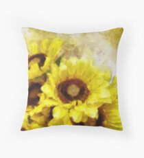 Serenity Sunflowers Throw Pillow