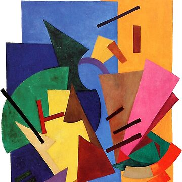Olga Rozanova - Non-Objective Composition (Flight of an Airplane) 1916 by mbalax