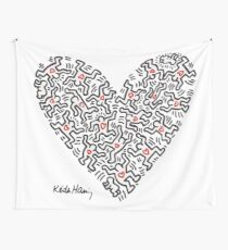 Keith Haring, Heart, People, Love Wall Tapestry
