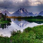 Mt. Moran at Oxbow Bend by Kathy Weaver